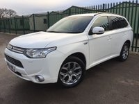 2014 MITSUBISHI OUTLANDER 0.0 PHEV GX 4H 5d AUTO 162 BHP SAT NAV SUNROOF LEATHER ONE OWNER £14390.00