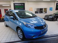 2014 NISSAN NOTE 1.2 ACENTA 5d 80 BHP £6595.00