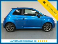 USED 2015 65 FIAT 500 1.2 S 3d 69 BHP SERVICE HISTORY - HALF LEATHER - REAR SENSORS - BLUETOOTH - AIR CONDITIONING - DAB RADIO - CD