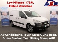 2016 PEUGEOT PARTNER 1.6 HDI 100BHP PROFESSIONAL with Low Mileage, TWIN SIDE LOADING DOORS, Air Conditioning, DAB Radio, Touch Screen, Cruise Control, Mobile Workshop £7980.00