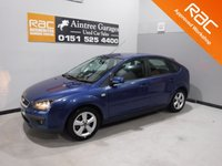 USED 2007 57 FORD FOCUS 1.6 ZETEC CLIMATE 5d 116 BHP GREAT CAR WITH  SERVICE HISTORY, THE CAR HAS GLEAMING BLUE PAINTWORK AND IMMACULATE DARK GRAY INTERIOR , AND SOME GREAT SPEC INC, ELEC WINDOWS, ELEC MIRRORS, REMOTE CENTRAL LOCKING, AIR CON, DAB,CD RADIO, AUX POINT