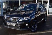 2013 LEXUS RX 3.5 450H F SPORT 5d 295 BHP £19950.00