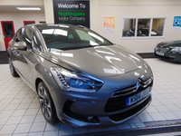 USED 2014 14 CITROEN DS5 2.0 HDI DSTYLE 5d 161 BHP FULL SERVICE HISTORY + FULL MOT + JUST SERVICED + SAT NAVIGATION + BLUETOOTH + 3 WAY GLASS SUNROOF + ALLOYS + RADIO CD PLAYER + 2 KEYS + CRUISE CONTROL + CLIMATE CONTROL