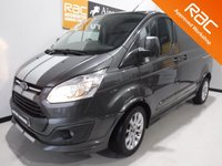 USED 2016 66 FORD TRANSIT CUSTOM TRANSIT CUSTOM SPORT FORD TRANSIT SPORT MODEL WITH EVERY OPTIONAL EXTRA inc REVERSING CAMERA, FULL HEATED  LEATHER TRIM, PARKING SENSORS,LAND ASSIST CRUISE CONTROL, AIR CON  UPGRADED ALLOY WHEELS, 155 bhp, EXCELLENT VALUE FOR MONEY IN THIS CONDITION AND WITH THIS SPEC AND SERVICE HISTORY, THIS VAN HAS BEEN VERY WELL LOOKED AFTER AND MAINTAINED WITH NO EXPENSE SPARED, COMES WITH MAIN DEALER  SERVICE HISTORY, 4 STAMPS VERY RARE VAN