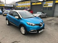 2013 RENAULT CAPTUR 0.9 DYNAMIQUE S MEDIANAV ENERGY TCE S/S 5 DOOR 90 BHP IN METALLIC BLUE AND WHITE WITH SAT NAV AND 35000 MILES. £7499.00
