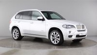 "USED 2009 59 BMW X5 3.0 XDRIVE35D M SPORT 5d AUTO 282 BHP A REAL EXAMPLE OF A STUNNING WELL LOOKED AFTER 4X4 VEHICLE WITH A 10 STAMP SERVICE HISTORY, FINISHED IN GLEAMING SILVER METALLIC WITH CONTRASTING BLACK HEATED LEATHER+PIANO BLACK INSERTS, FULL GLASS PANORAMIC SUNROOF, BIG SCREEN NAV, REVERS CAMARA,  REAL EXAMPLE OF A STUNNING WELL LOOKED AFTER 4X4 VEHICLE, FINISHED IN GLEAMING BLACK METALLIC WITH CONTRASTING BLACK HEATED LEATHER+PIANO BLACK INSERTS, FRONT SPOT LIGHTS, CONNECTION DRIVE, 19"" UPGRADED ALLOYS, CRUSE CONTROL, BIG SCREEN SAT NAV, , PA"