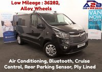 2015 VAUXHALL VIVARO 1.6 CDTi 2700 SPORTIVE 115 BHP with Low Mileage, Alloy Wheels, Air Conditioning, Bluetooth, Ply Lined, Rear Parking Sensors £10680.00