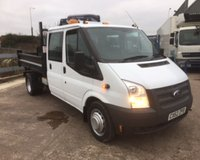USED 2012 62 FORD TRANSIT T350 2.2 TDCI DOUBLE CAB, STEEL BODIED 3 WAY TIPPER