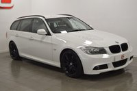 USED 2010 60 BMW 3 SERIES 3.0 330D M SPORT TOURING 5d AUTO 242 BHP STUNNER IN WHITE + SAT NAV + BLACK LEATHER + PRIVACY GLASS
