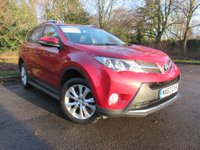 USED 2013 63 TOYOTA RAV4 2.2 D-4D INVINCIBLE 5d AUTO 150 BHP FULL HEATED LEATHER AND SAT NAV