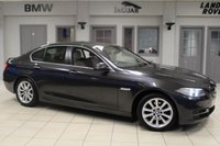 USED 2015 15 BMW 5 SERIES 2.0 520D SE 4d AUTO 188 BHP FULL SERVICE HISTORY + OYSTER LEATHER SEATS + SATELLITE NAVIGATION + £30 ROAD TAX + HEATED FRONT SEATS + DAB RADIO + BLUETOOTH + PARKING SENSORS + CRUISE CONTROL + 16 INCH ALLOYS