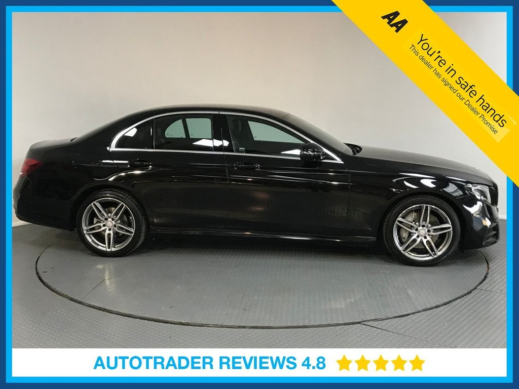 USED 2016 66 MERCEDES-BENZ E CLASS 2.0 E 220 D AMG LINE 4d AUTO 192 BHP FULL MERCEDES HISTORY - ONE OWNER - SAT NAV - HALF LEATHER - AIR CON - REAR CAMERA - BLUETOOTH