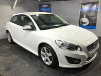 USED 2012 62 VOLVO C30 1.6 D2 R-DESIGN LUX 3d 113 BHP Only £30 a year road tax  :  Bluetooth   :   Sat Nav   :    R-Design T-Tec + leather upholstery   :    Heated front seats   :    R-Design steering wheel   :   Rear parking sensors   :   Comprehensive service history