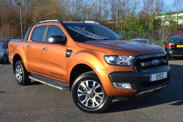 USED 2016 16 FORD RANGER 3.2 WILDTRAK 4X4 DCB TDCI 5d AUTO 197 BHP ~ ARMADILLO SHUTTER BACK NEW SHAPE ~ ARMADILLO SHUTTER BACK ~ 6 MONTHS WARRANTY ~ SAT NAV