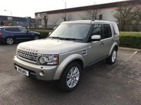 2011 LAND ROVER DISCOVERY 3.0 4 SDV6 HSE 5d AUTO 245 BHP £19500.00