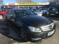 2013 MERCEDES-BENZ C CLASS 2.1 C220 CDI BLUEEFFICIENCY AMG SPORT PLUS 4d AUTO 168 BHP IN BLACK WITH ONLY 46000 MILES IN IMMACULATE CONDITION. £11699.00