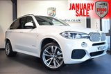 USED 2015 65 BMW X5 3.0 XDRIVE40D M SPORT 5DR 309 BHP full service history MINERAL METALLIC WHITE WITH FULL DAKOTA LEATHER + FULL SERVICE HISTORY + PRO SATELLITE NAVIGATION + BLUETOOTH + XENON LIGHTS + HEATED SEATS +  HEAD-UP DISPLAY + DAB RADIO + MEMORY PACKAGE + LIGHT PACKAGE + 7 SEATS + ELECTRIC FOLDING MIRRORS + PARKING SENSORS + 20 INCH ALLOY WHEELS