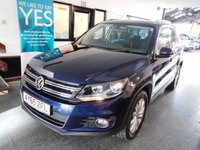 USED 2015 65 VOLKSWAGEN TIGUAN 2.0 MATCH TDI BLUEMOTION TECHNOLOGY 4MOTION 5d 148 BHP Two private owners, full VW service history- 5 stamps, September 2019 Mot. Finished in Night Blue Metallic with Black cloth & Alcantara seats.