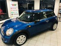 2012 MINI HATCH ONE 1.6 ONE 3d 98 BHP £4995.00