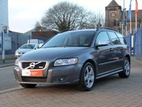 "USED 2010 60 VOLVO V50 2.0 D3 R-DESIGN 5d  HEATED LEATHER ~ BLUETOOTH ~ SERVICE HISTORY ~ CRUISE CONTROL ~ 17"" ALLOYS ~ FRONT AND REAR PARK ASSIST"