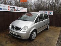 USED 2004 54 VAUXHALL MERIVA 1.6 LIFE 8V 5d 87 BHP FINANCE AVAILABLE FROM £13 PER WEEK OVER TWO YEARS - SEE FINANCE LINK FOR OPTIONS