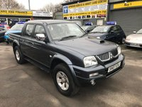 USED 2007 07 MITSUBISHI L200 2.5 4WD TROJAN LWB DCB 4 DOOR 114 BHP IN METALLIC BLUE WITH 98000 MILES IN IMMACULATE CONDITION INSIDE AND OUT WITH A FULL SERVICE HISTORY. APPROVED CARS ARE PLEASED TO OFFER THIS MITSUBISHI L200 2.5 4WD TROJAN LWB DCB 4 DOOR 114 BHP IN METALLIC BLUE WITH A FULL BLACK LEATHER INTERIOR,ALLOYS,AIR CON AND MUCH MORE WITH A FULL SERVICE HISTORY WITH ALL THE BILLS AND SERVICE BOOK AND HAS RECENTLY HAS A NEW CAM BELT AND WATER PUMP,THIS TRUCK IS ONE OF THE NICEST TRUCK AROUND AND TRULY IS A CREDIT TO ITS FORMER OWNER(LAST OWNER SINCE 2010)(THERE IS NO VAT ON THIS TRUCK)