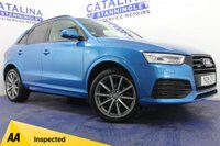 USED 2015 15 AUDI Q3 2.0 TDI QUATTRO S LINE PLUS 5DR SEMI AUTOMATIC BLACK PACK-LEATHER-SAT NAV