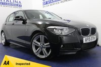 USED 2015 15 BMW 1 SERIES 2.0 120D M SPORT 5DR AUTOMATIC STUNNING SPECIFICATION - LOW MILES - SAT NAV - BLUETOOTH - I-DRIVE