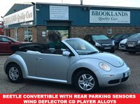 USED 2006 VOLKSWAGEN BEETLE 1.6 LUNA 8V Reflex Silver Metallic 101 BHP Beetle Convertible with Rear Parking Sensors Wind Deflector