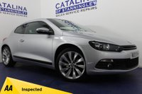 USED 2013 13 VOLKSWAGEN SCIROCCO 2.0 GT TDI BLUEMOTION TECHNOLOGY 2DR SAT NAV-B/TOOTH-WATCH VID!