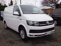 USED 2018 18 VOLKSWAGEN TRANSPORTER T30 TDI HIGHLINE SWB 150 BLUEMOTION EURO 6  Sat Nav (Discovery Media Unit), Electric Folding Mirrors & Power Close to Side Door.