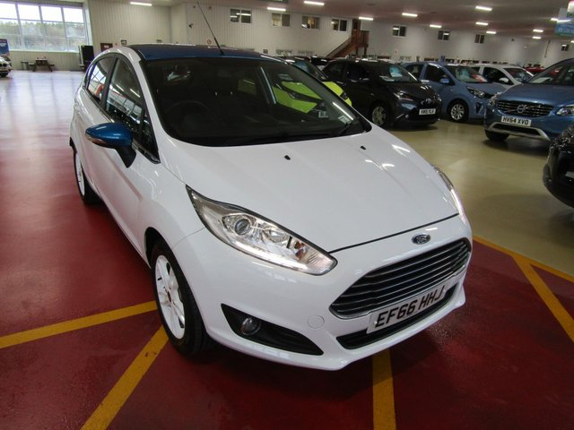 View our 2016 66 FORD FIESTA 1.2 ZETEC WHITE EDITION SPRING 5d 81 BHP
