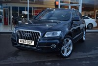 USED 2013 63 AUDI Q5 2.0 TDI QUATTRO S LINE PLUS 5d AUTO 175 BHP FINANCE TODAY WITH NO DEPOSIT