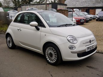 2012 FIAT 500 1.2 Lounge 3 Door Hatchback In White With Panoramic Sunroof £4995.00