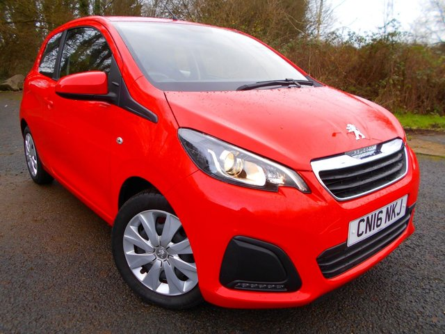 2016 16 PEUGEOT 108 1.0 ACTIVE 3d 68 BHP **1 OWNER FROM NEW , YES ONLY 13K ,£0 ROAD TAX, SUPERB VEHICLE **