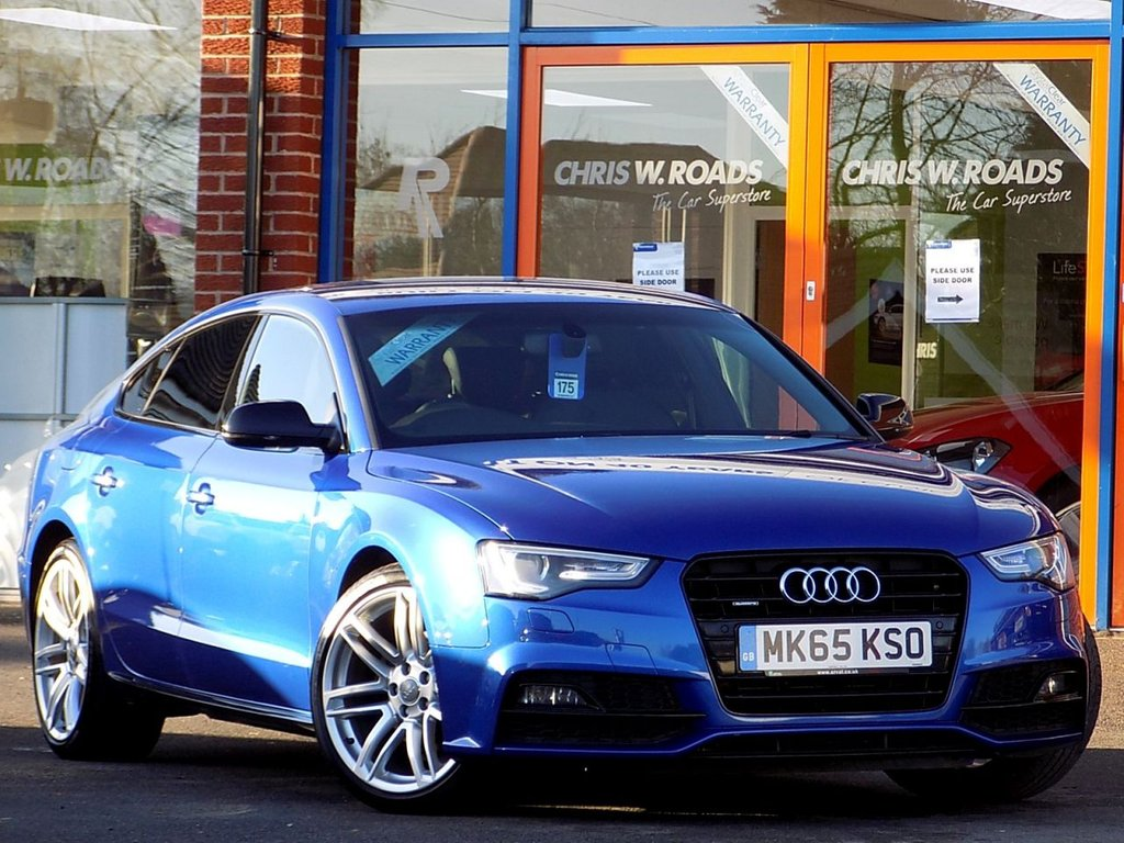 USED 2015 65 AUDI A5 2.0 TDi Quattro S Line Black Edition Plus 5dr (190) ** Leather + Sat Nav **