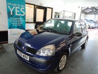 USED 2006 06 RENAULT CLIO 1.1 CAMPUS 8V 3d 58 BHP Low insurance...ideal first car! This Clio is finished in Metallic Blue with Black cloth seats. It is fitted with power steering, remote locking, electric windows, CD Stereo and more. In April 2018 it had a cambelt, water pump and head gasket replacement and comes with some service history consisting of stamps, invoices and old Mot certificates. We will supply the car with a new 12 months MOT. Finance and extended warranties are available. This 3 door Clio is a very clean example.