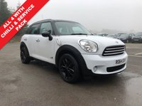 USED 2014 64 MINI COUNTRYMAN 1.6 COOPER D ALL4 5d 112 BHP 2 Owners, Full Mini Service History, Mini Service Pack & Chilli Pack. This stunning All 4 Mini also comes with half Leather, Mood Lighting, Parking Sensors, Leather Multi functional Steering Wheel, Sports Mode Button, Air Conditioning, Bluetooth, CD, DAB Radio, USB/AUX, alloy wheels and a Free Garmin SAT NAV.  Nationwide Delivery Available. Finance Available at 9.9% APR representative.