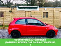 USED 2007 57 FORD FIESTA 2.0 ST 16V 3d 148 BHP This is a 2007 ST150 in red with contrasting gloss black powder coated wheels matching black trims and grills. It also has an aftermarket Bluetooth pioneer double din radio and half leather sports seats.