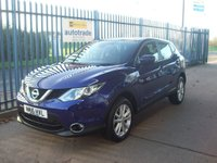 2016 NISSAN QASHQAI 1.2 DIG-T Acenta (Smart Vision & Tech Packs) 5dr £12000.00