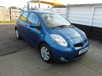 USED 2011 11 TOYOTA YARIS 1.33 VVT-i T Spirit Petrol 5 door 1 owner. Full service history. £30 a year road tax. Sat Nav.
