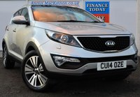 USED 2014 14 KIA SPORTAGE 1.7 CRDI 3 SAT NAV ISG 5d Family SUV Heated Leather Seats Sat Nav Panoramic Glass Roof and Kia 7 Year Warranty until 2021 1 FORMER KEEPER