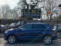 USED 2017 17 FORD EDGE 2.0 TITANIUM TDCI 5d 177 BHP STUNNING METALLIC BLUE PAINT WORK, LOVELY CHARCOAL CLOTH INTERIOR, SAT NAV, HEATED FRONT SEATS, LANE ASSIST, USB DAB RADIO, FRONT AND REAR PDC, CRUISE CONTROL, 1 OWNER, SERVICE HISTORY, LOVELY 4X4