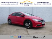 2014 HONDA CIVIC 1.6 I-DTEC SE PLUS-T 5d 118 BHP £5888.00