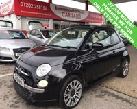 USED 2010 10 FIAT 500 1.4 C LOUNGE 3d 99 BHP CABRIOLET *ONLY 37,000 MILES*