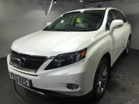 USED 2012 12 LEXUS RX 3.5 450H ADVANCE SUN ROOF 5d AUTO 295 BHP Electric sunroof  :    Bluetooth     :     Sat Nav     :     Full leather upholstery     :     Remotely operated tailgate  :     Heated front seats     :     Electric driver  +  passenger seats     :     Full service history    :   Reversing camera plus front and rear parking sensors