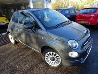 USED 2015 65 FIAT 500 1.2 LOUNGE 3d 69 BHP NEW SHAPE One Owner from new, Minimum 8 months MOT, Serviced by ourselves, Good fuel economy! Only £20 Road Tax! New Shape Model finished in Electroclash Metallic Grey with Diamond Grill and Rear Parking Sensors