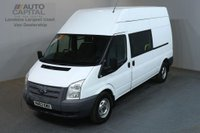 USED 2013 63 FORD TRANSIT 2.2 350 124 BHP LWB 9 SEATER L3 H3 COMBI CREW VAN ONE OWNER SPARE KEY