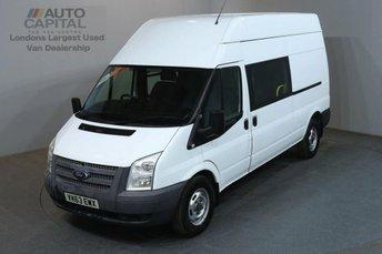 2013 FORD TRANSIT 2.2 350 124 BHP LWB 9 SEATER L3 H3 COMBI CREW VAN £5990.00