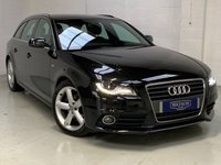 USED 2009 AUDI A4 2.0 AVANT TDI S LINE SPECIAL EDITION 5d AUTO 141 BHP LOW MILES, GREAT SPEC INCLUDING HALF LEATHER, HALF ALCANTARA S LINE EMBOSSED INTERIOR